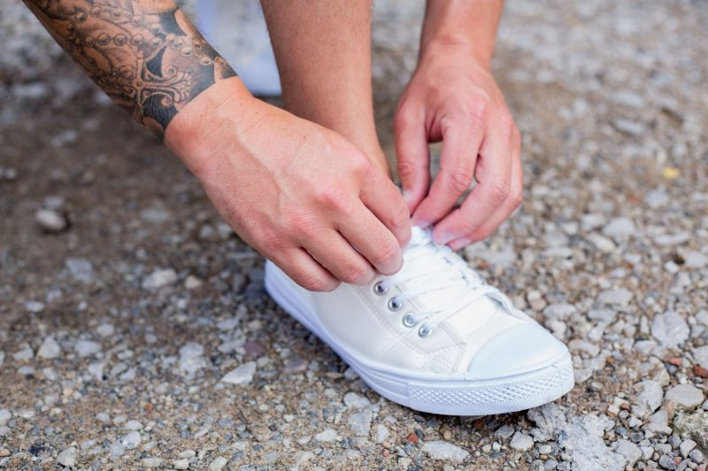 BoohooMAN white trainers