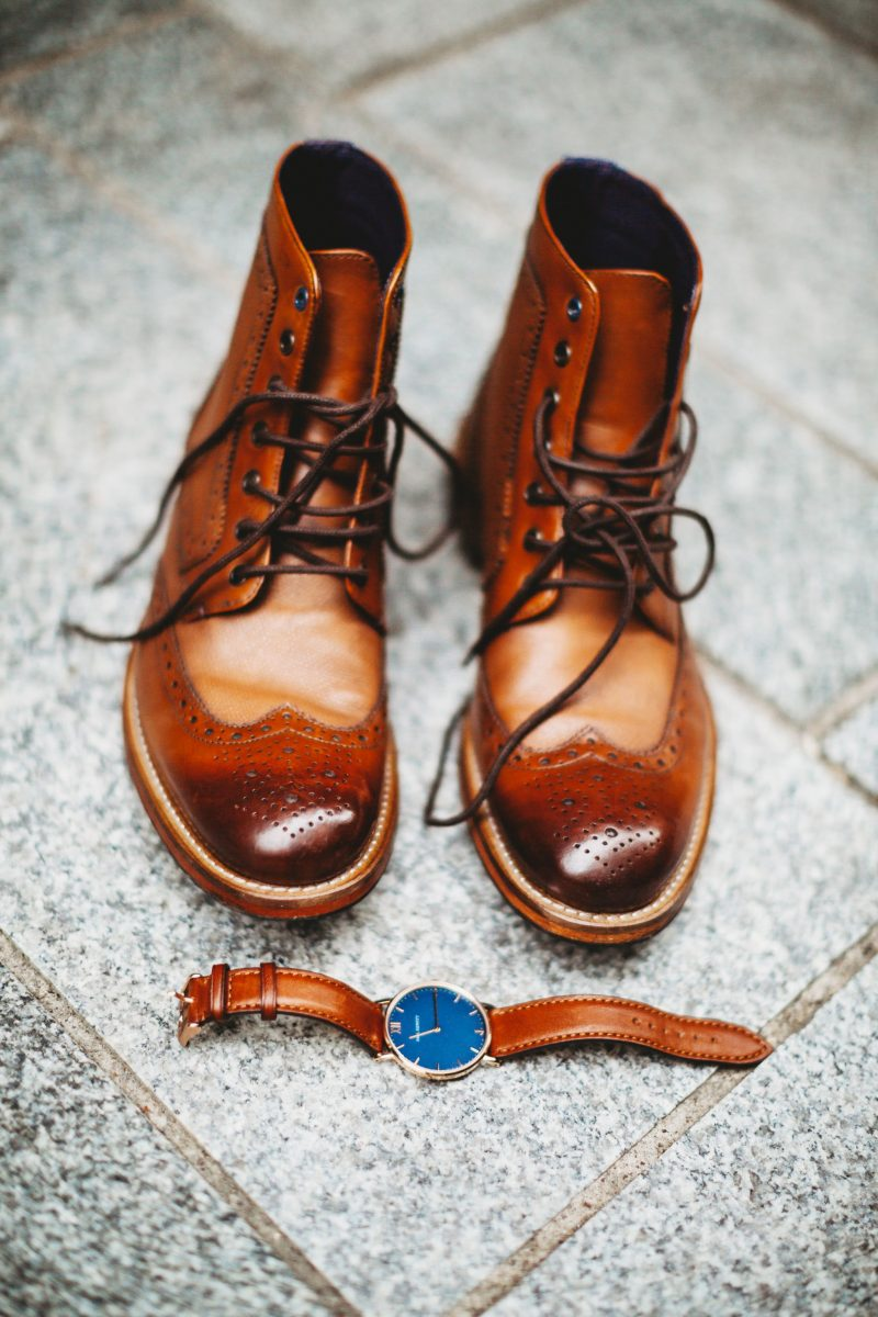 Slaters menswear Ted Baker brogue boots